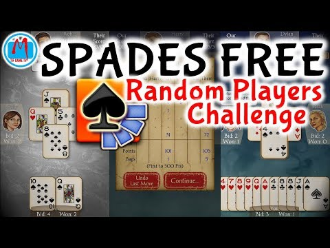 Spades Free Random Players Challenge | Playing Cards | Mobile Android Gameplay | TiF Game TV