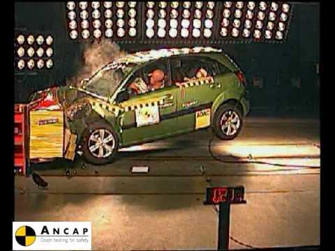 kia rio 2006 ancap crash test (3 stars) - youtube