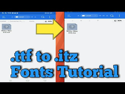 How To Convert .ttf Font To .itz Font