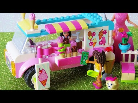 Thumbnail: Toy ice cream truck Lego Friends Elsa Anna have chocolate strawberry Ice Cream playset