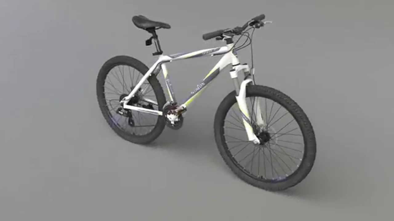 realistic mountain bike 3d model 3ds max 2008 v ray youtube