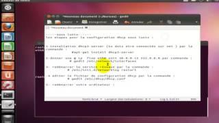 configuration dhcp sous Lunix -Ubuntu -