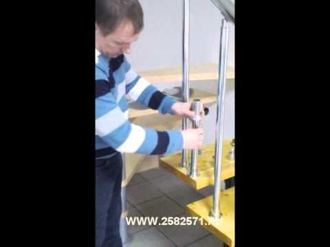 Лестничные ограждения из хромированной трубы