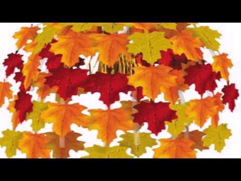 Поделка из сухих кленовых листьев своими руками