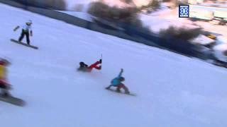 Finish Line Fight (Snowboarder X) - Winter X Games 2012