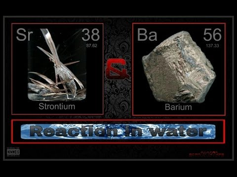 BARIUM & STRONTIUM (reaction In Water) !!