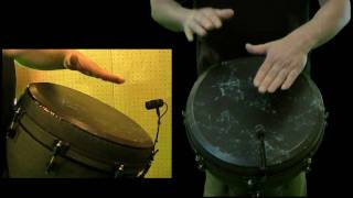 Djembe beginner lesson for a rhythm on a REMO for two player in hand to hand technique