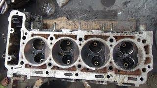 Ta'mirlash Mercedes W124 motor M 102 2.3 ,klapan qo'llanmalar o'rniga.