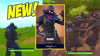 BEST FORTNITE SKIN!! RAVEN/GRIM REAPER GAMEPLAY!! £20 SKIN!