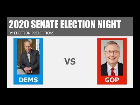 2020 Senate Election Predictions - Democrats Vs Republicans