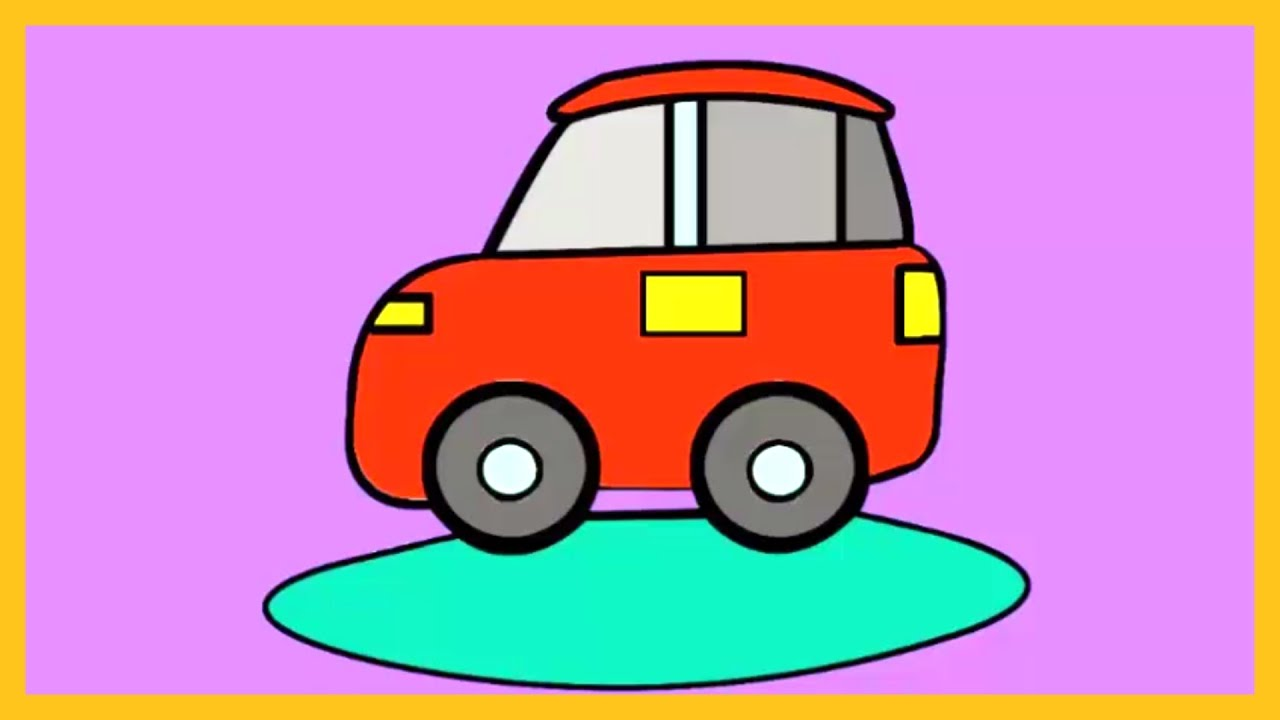 How to colour a car colouring tutorial by silly kids