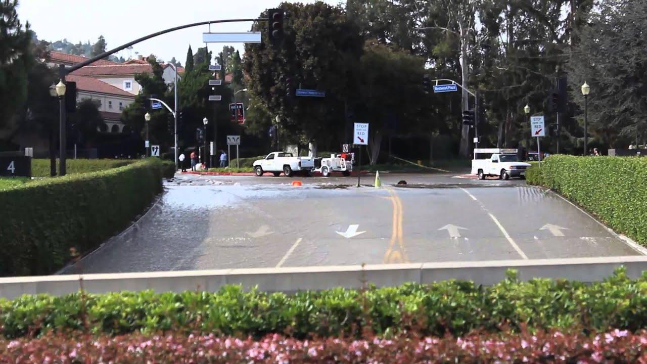 UCLA Flood Parking Structure 4 Entrance