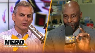 Jerry Rice relives greatest Super Bowl moments, compares Tom Brady to Joe Montana | NFL | THE HERD