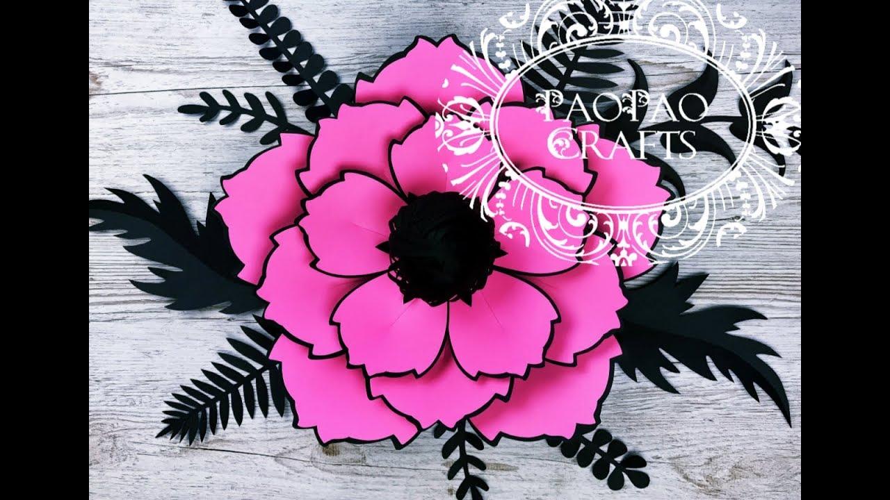 Flor Gigante De Papel Moldes Gratis Flores De Papel Giant