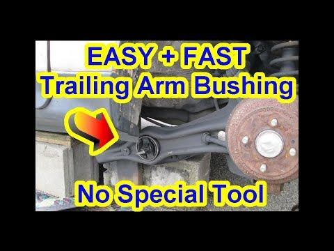 EASY Honda Rear Trailing Arm Bushing Repair – No Special Tool – Civic Acura CRX CRV