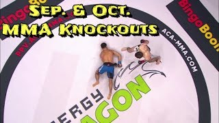 Sep. & Oct. MMA Knockouts