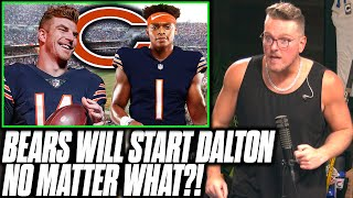 Bears Say Andy Dalton Will Start Over Justin Fields No Matter What?!