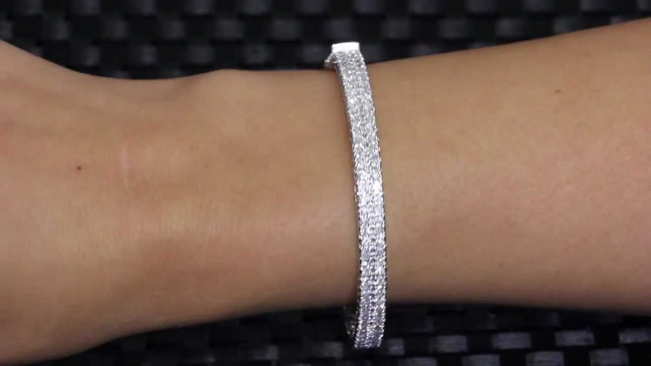box cut diamond w ct in i si bracelet princess t tw h platinum eternity tennis