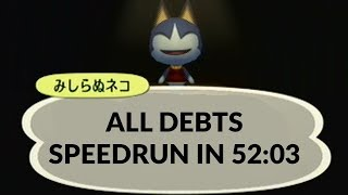 Animal Crossing City Folk All Debts Speedrun in 52:03