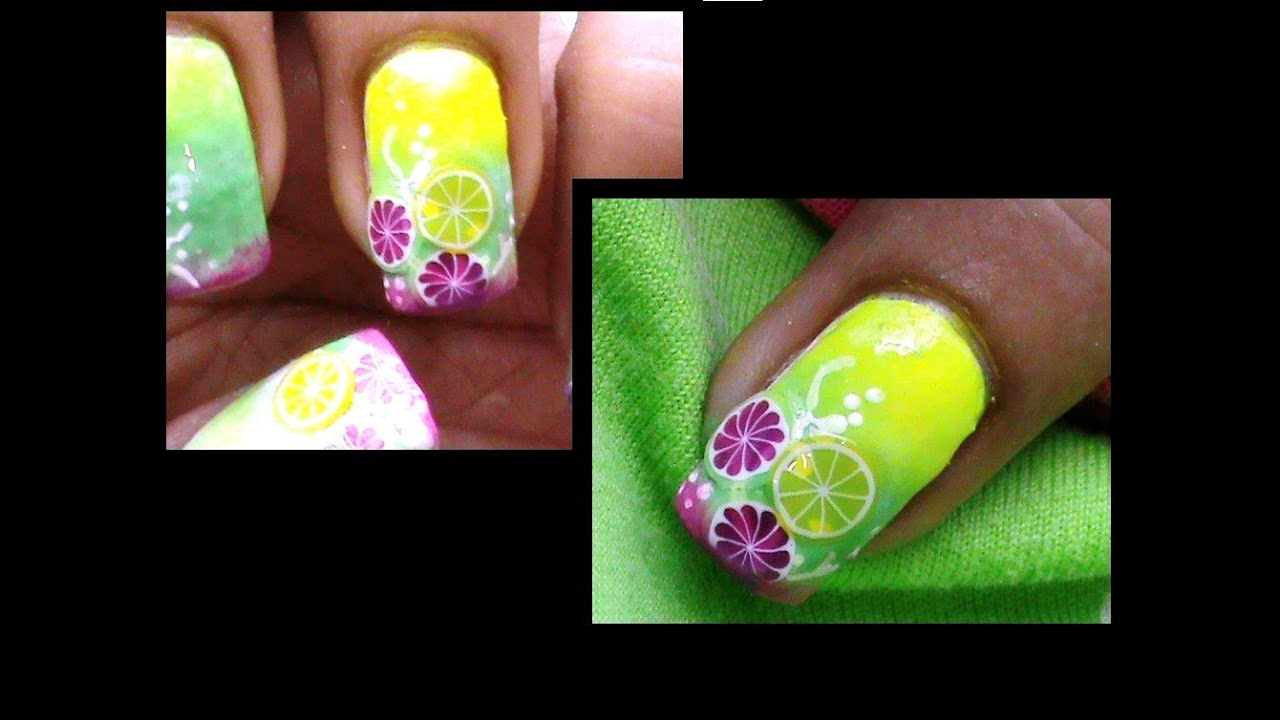 Fruit Punch: Easy Fimo Cane Nail Art Tutorial - YouTube