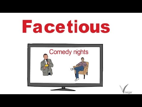Facetious  Meaning In English And Hindi With Usage   YouTube