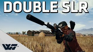DOUBLE SLR - Gotta love this gun! - PUBG Gameplay