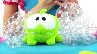Мыльные пузыри и Ам Ням. Мастер-класс в видео для детей
