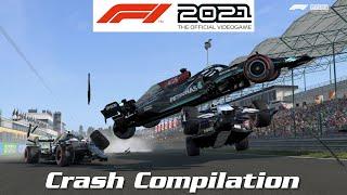 F1 2021 Game - Crash Compilation