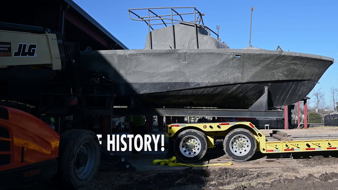 US Military News • U.S. Army Transportation Museum Receives Vietnam War-Era Gunboat
