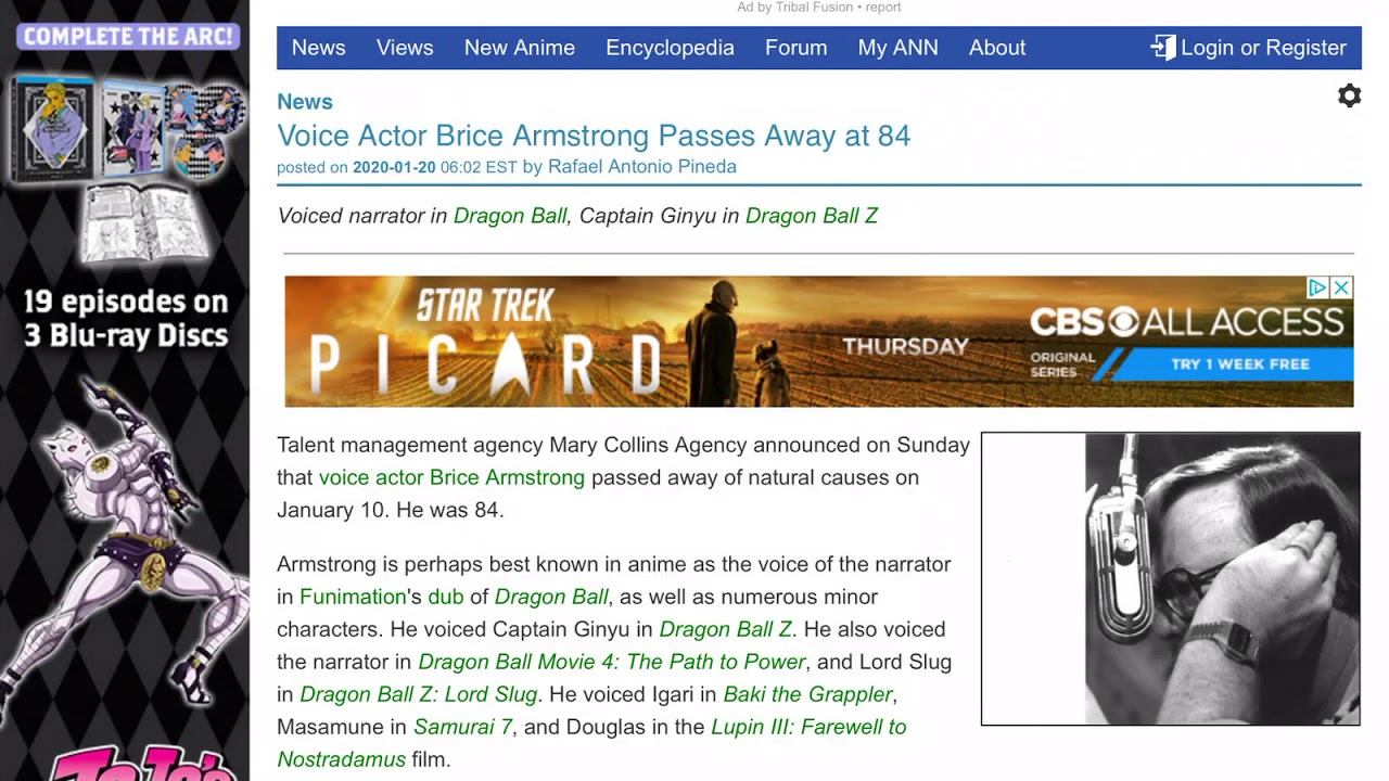 Brice Armstrong death: Dragon Ball Z's Ginyu voice actor and anime ...