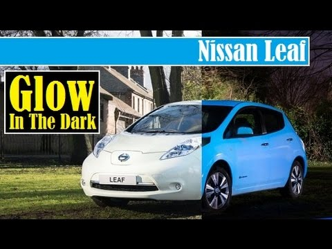 Nissan Leaf, glowing in-the dark body paint, would you drive this awesome car ?