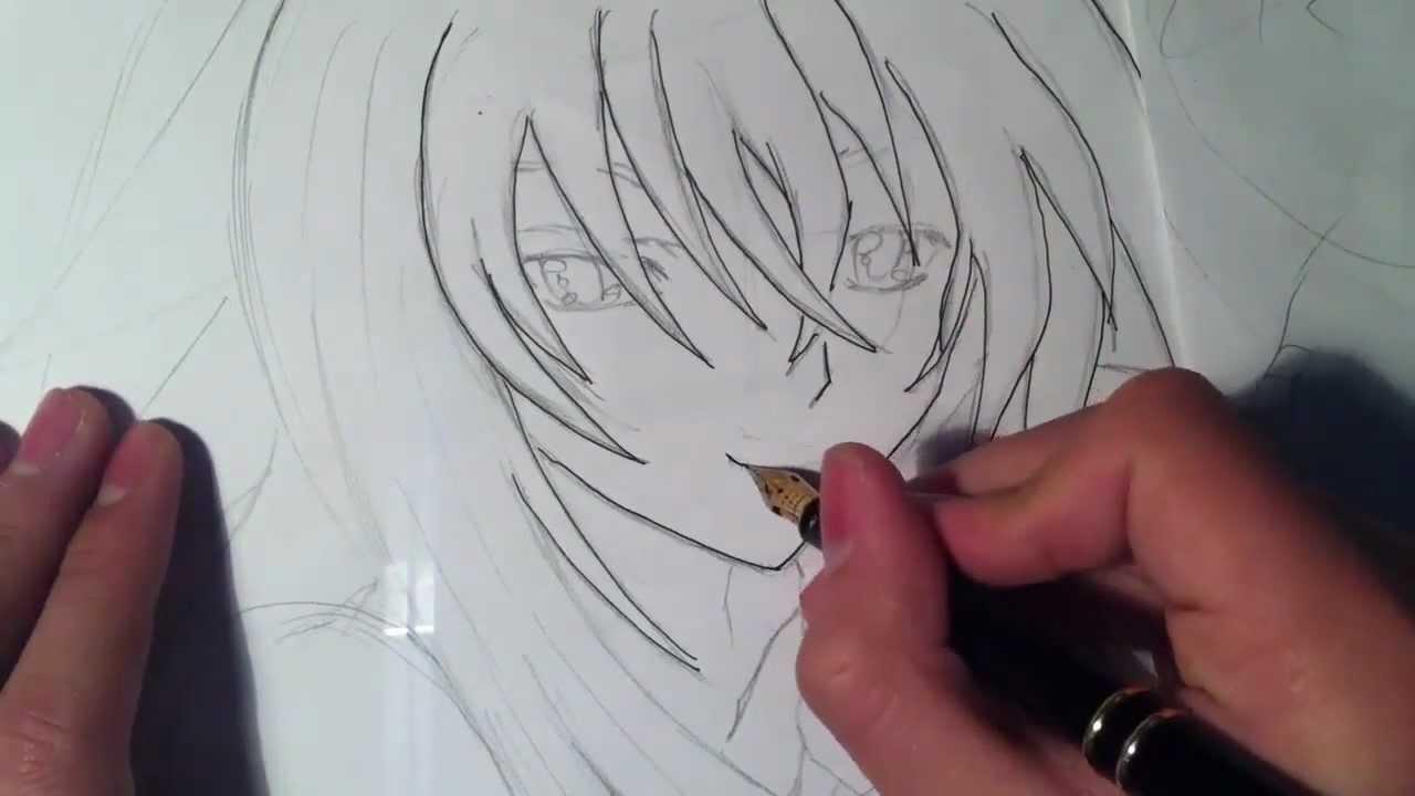 Rias Gremory Para Colorear: How To Draw/Como Dibujar A Rias Gremory(High School DxD