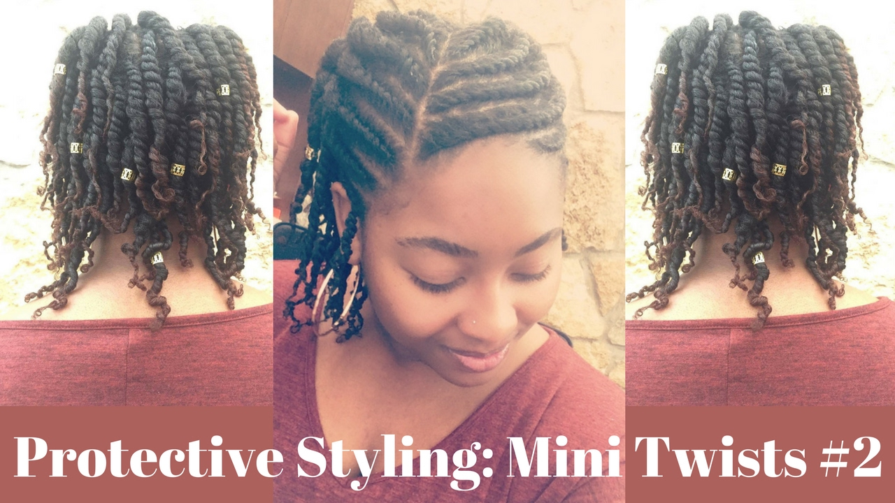 Protective Hair Styles For Short 4c Hair: Protective Hairstyle Mini Twists #2