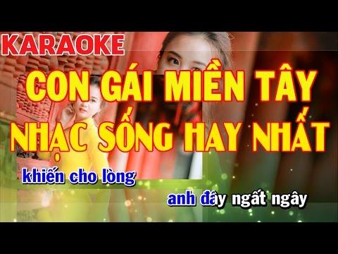 Karaoke Con Gái Miền Tây | Cha Cha Cha Cực Hay | Nhạc Sống Hay Nhất | Kiều Sil Keyboard