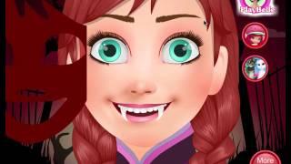 Disney Frozen princess Anna vampire-Anna Vampire Resurrection-anna become vampire -vampire games