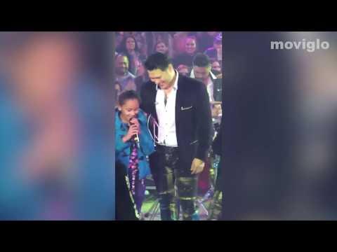 Banda MS Con Niña del Publico  El Color de Tus Ojos En Vivo 2018