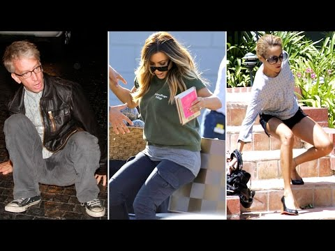 Top 5 Celebrity Falls - X17online's Celebs Be Trippin!