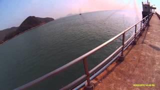 香港釣魚 前打 落入 sport cam sj6000