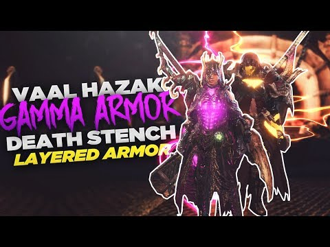 Monster Hunter World - How to Get Arch Tempered Vaal Hazak Gamma Armor & Death Stench Layered Armor!