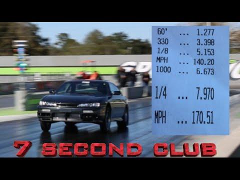 7 SECOND NISSAN STREET CAR! 7.9@170 -Worlds Fastest Toyota Trans