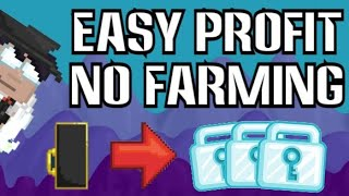 EASY PROFIT WITH VIP ENTRANCES! (NO FARMING!) GET RICH FAST BEST WAY TO EARN DL! | Growtopia