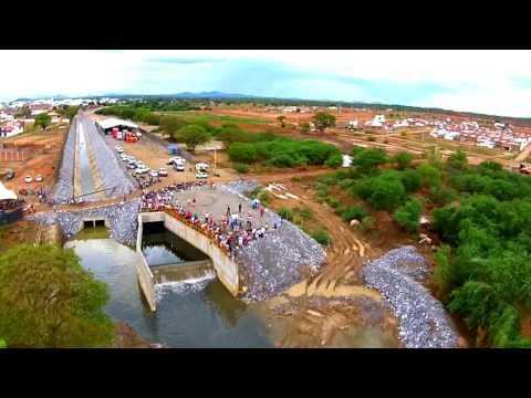 EXCLUSIVO: Primeiras imagens das águas do rio São Francisco na Paraíba Monteiro-PB