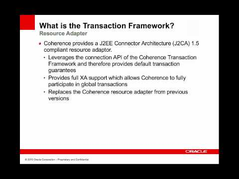 Coherence - Transaction Framework