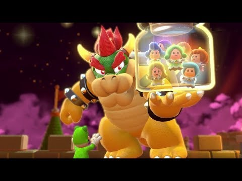 Super Mario 3D World 100% Walkthrough World Castle - All Green Stars & Stamps