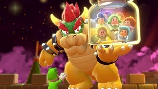 Super Mario 3D World Walkthrough World Castle - All Green Stars & Stamps