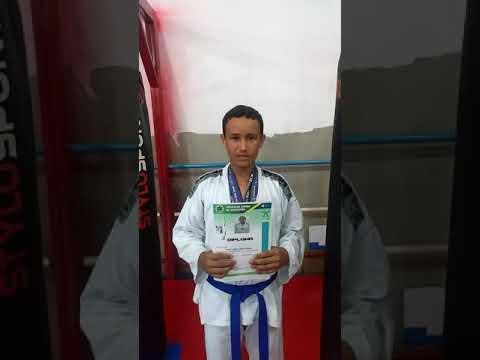 Taekwondo Indiara Goiás! Atleta Felipe Gabriel Vieira Floriano Campeão Goiano 2019