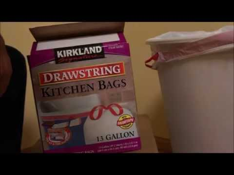 Kirkland Signature Drawstring Kitchen Trash Bags - 13 Gallon - 200 ...