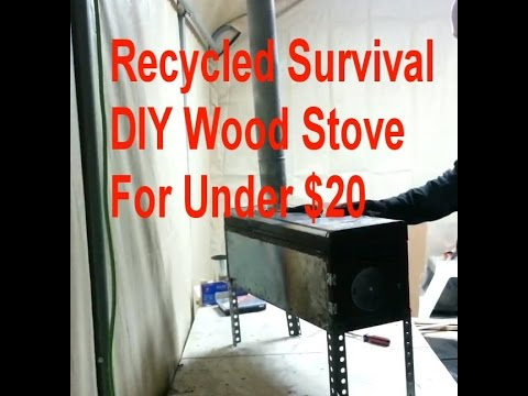 DIY Toolbox Wood Stove For Under $20 - Recycled Survival