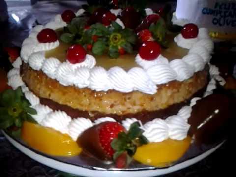 Chocoflan decorado con frutas youtube - Como decorar un estanque ...
