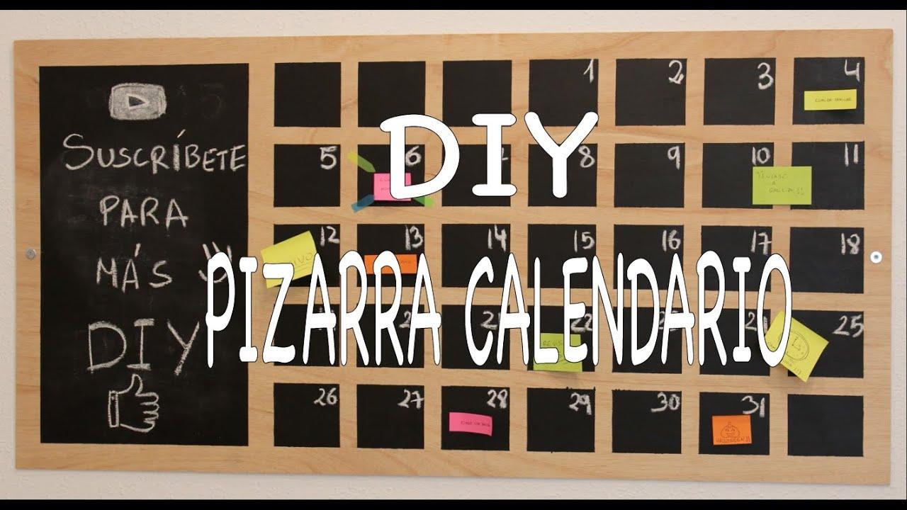 Diy tutorial pizarra calendario perpetuo edukiwi youtube - Pizarra calendario ...
